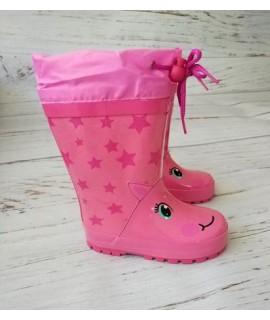 Резиновые сапоги детские Kimboo Y51-1 розовые