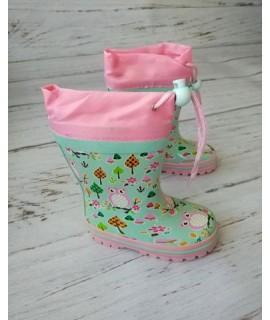 Резиновые сапоги детские Kimboo Y55-1 розовые