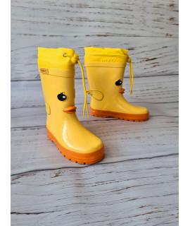 Резиновые сапоги детские Kimboo Y754-2H желтые