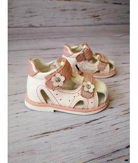 Босоножки детские Clibee F273 белый-розовый