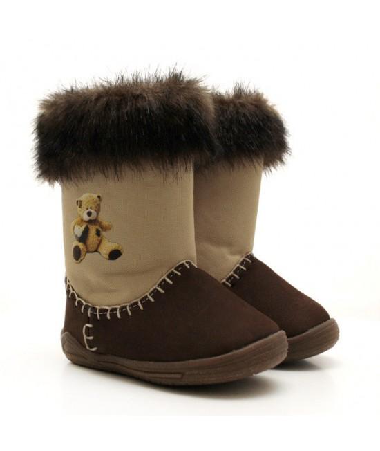 Сапоги детские зимние Угги Берегиня 2803 коричневые