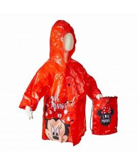 Плащ-дождевик с сумкой Минни Маус Disney Arditex красные