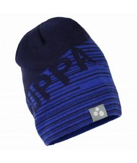Вязанная детская шапка ASTON Huppa темно-синяя