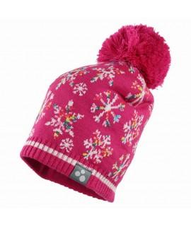 Вязанная шапка детская FLAKE Huppa фуксия