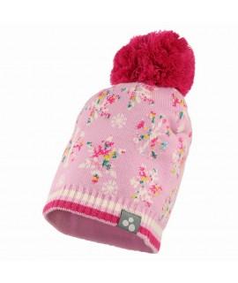 Вязанная детская шапка FLAKE Huppa розовая