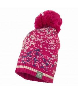 Вязанная детская шапка FLAKE 1 Huppa фуксия