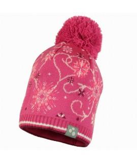 Вязанная детская шапка FLAKE 2 Huppa фуксия