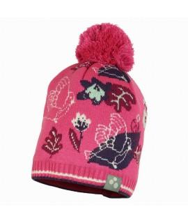 Вязанная детская шапка FLAKE 3 Huppa розовая
