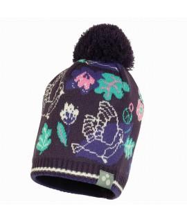 Вязанная детская шапка FLAKE 3 Huppa серая