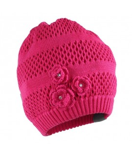 Вязанная детская шапка Gloria Huppa фуксия