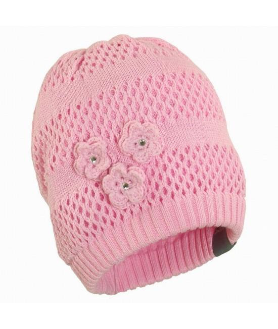 Вязанная детская шапка Gloria Huppa розовый