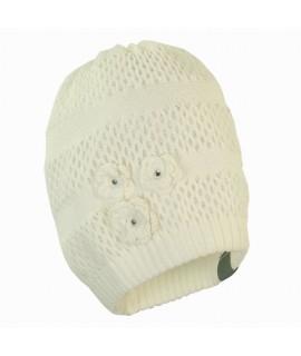 Вязанная детская шапка Gloria Huppa белый