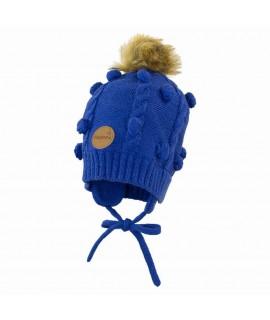 Вязанная детская шапка MACY Huppa синяя