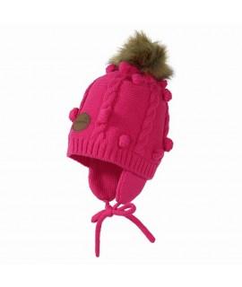 Вязанная детская шапка MACY Huppa фуксия