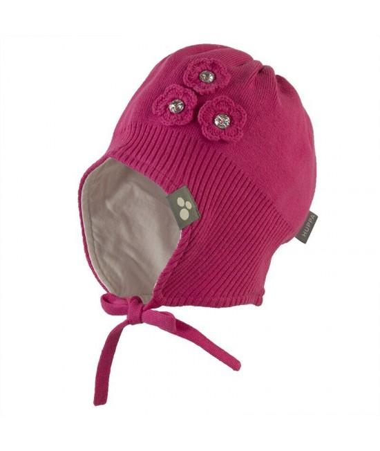 Вязанная детская шапка LARA Huppa фуксия