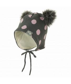 Вязанная детская шапка FIONA Huppa серая