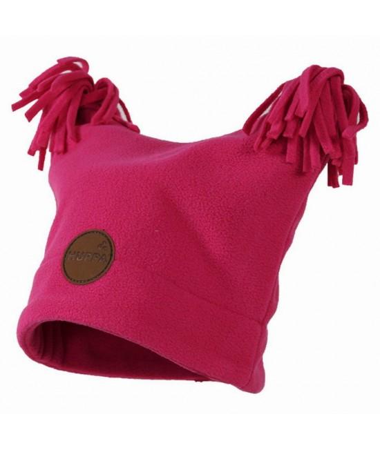 Флисовая детская двухслойная шапка WILLIAM Huppa фуксия