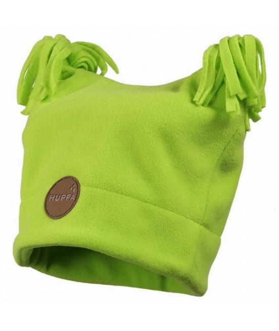 Флисовая детская двухслойная шапка WILLIAM Huppa зеленая