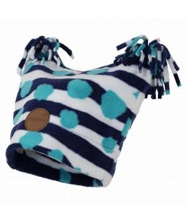 Флисовая детская двухслойная шапка WILLIAM Huppa синий pattern