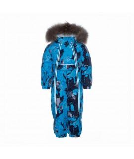 Комбинезон детский зимний BEATA 1 Huppa 93636 голубой с принтом