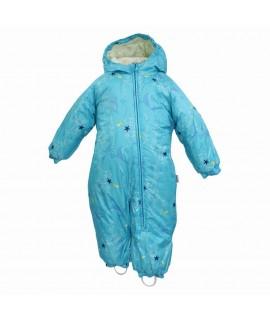 Комбинезон детский зимний DEIRO 1 Huppa 936 голубой с принтом