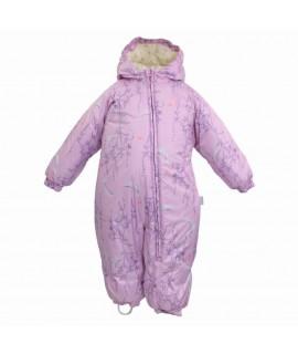 Комбинезон детский зимний DEIRO 1 Huppa 943 лиловый с принтом