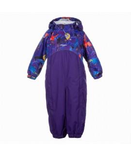 Комбинезон детский демисезонный GOLDEN Huppa 90353 с принтом/фиолетовый