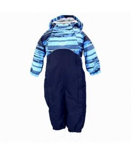 Комбинезон детский демисезонный GOLDEN Huppa 90535 синий с принтом/темно-синий