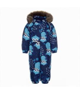Термокомбинезон детский зимний KEIRA Huppa 93486 синий с рисунком