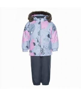 Комплект зимний детский AVERY Huppa 94128 cерый с рисунком