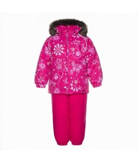 Комплект зимний детский AVERY Huppa 94263 фуксия с рисунком