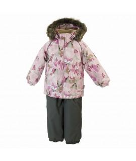 Термокомплект зимний детский AVERY Huppa 81813 розовый с рисунком