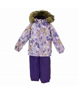 Термокомплект зимний детский AVERY Huppa 81853 сиреневый с рисунком