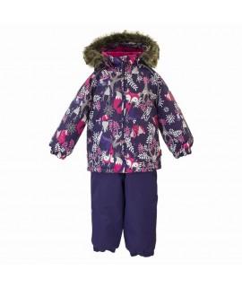 Термокомплект зимний детский AVERY Huppa 81873 фиолетовый с рисунком