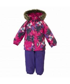 Термокомплект зимний детский AVERY Huppa 81963 фуксия с рисунком