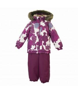 Комплект зимний детский AVERY Huppa 83320 белый с рисунком