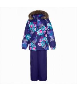 Комплект зимний детский WONDER Huppa 94073 фиолетовый с рисунком