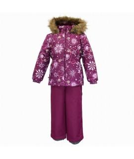 Комплект зимний детский WONDER Huppa 94234 бордовый с рисунком