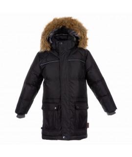 Куртка-пуховик детская зимняя LUCAS Huppa черная