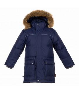 Куртка-пуховик детская зимняя LUCAS Huppa темно-синий