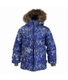 Куртка-пуховик зимняя MOODY 1 Huppa 73235 синий с рисунком