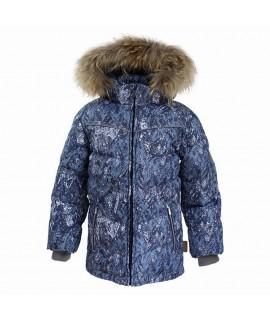 Куртка-пуховик зимняя MOODY 1 Huppa 73286 темно-синий с рисунком
