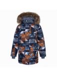 Термокуртка детская зимняя VESPER Huppa 92509 коричневая