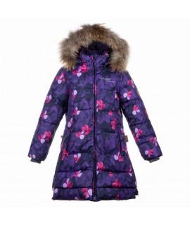 Пальто-пуховик детское зимнее PARISH Huppa 81053 фиолетовый с рисунком