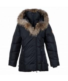 Пальто-пуховик детское зимнее ROYAL Huppa 00009 черное