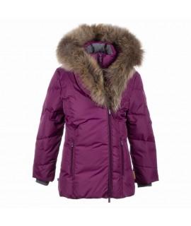 Пальто-пуховик детское зимнее ROYAL Huppa 80034 бургунд