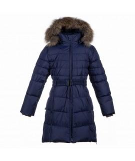 Пальто-пуховик детское зимнее Yasmine Huppa синее