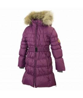 Пальто-пуховик детское зимнее Yasmine Huppa фиолетовое