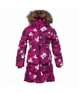 Пальто-пуховик детское зимнее Yasmine Huppa 81063 фуксия
