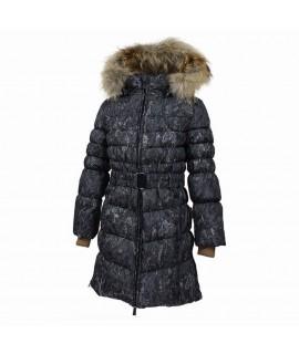 Пальто-пуховик детское зимнее Yasmine Huppa черные